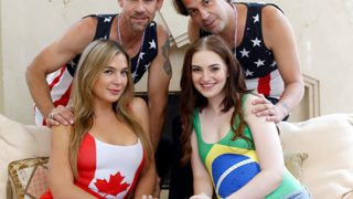 Blair Williams And Maya Kendrick switch dad's for dick